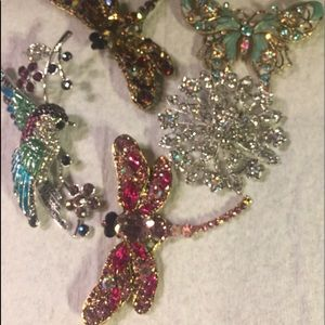 🌹BOGO🌹equal or less value LOT of (5) brooches